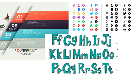 Beberapa Sumber Referensi untuk Mengunduh Template Design, Jenis Huruf dan Jenis Icon