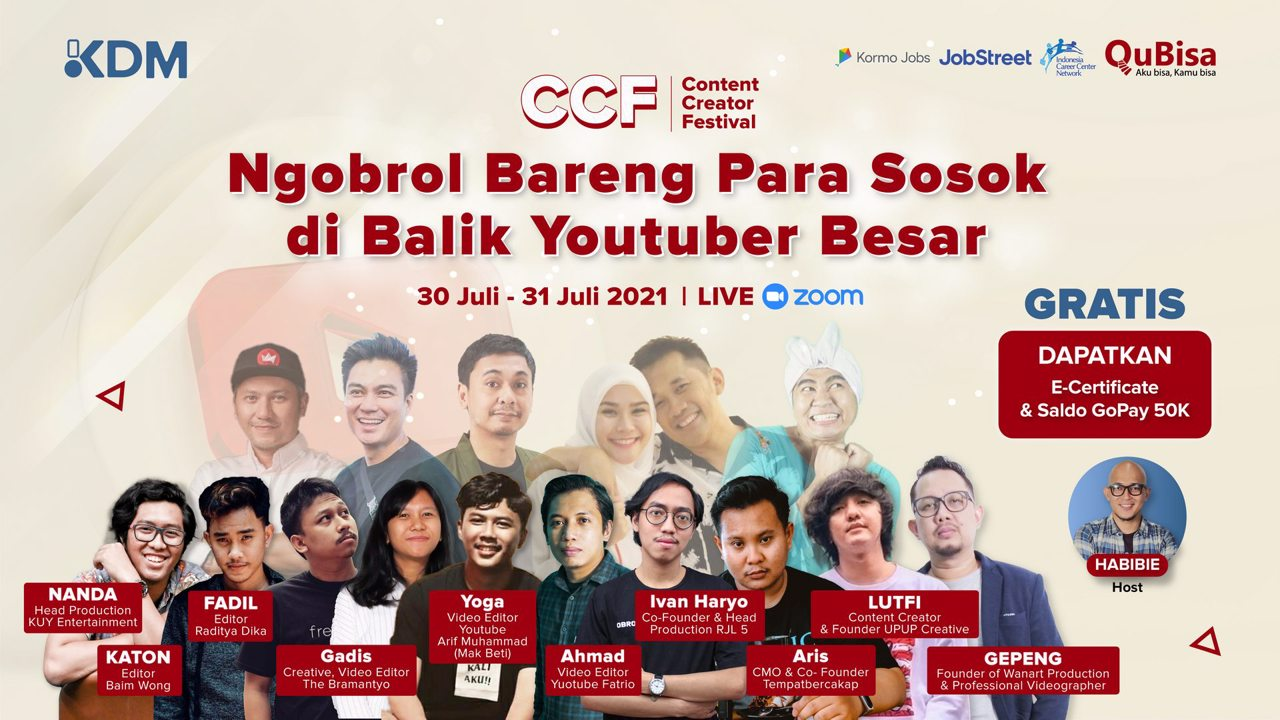 Content Creator Festival : Ngobrol Bareng Para Sosok Dibalik Youtuber Besar